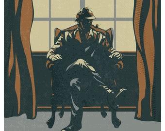 Sherlock Holmes Poster Book Art Print