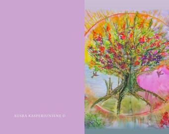 "Greeting Card - ""Tree of Life"""