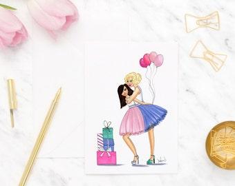 Best friend birthday card, Blank greeting cards, Birthday card for friend, Birthday card for her, Greeting cards blank, Card for birthday