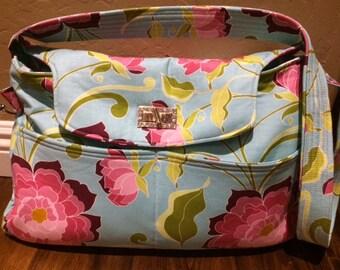 Lila Tueller Fabric Purse/handbag/tote/diaper bag