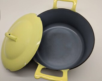 Mid Century Descoware Cast Iron Dutch Oven, made in Beligum