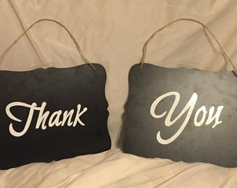 Photo prop- thank you chalkboards