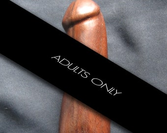 Hand Carved Wooden Phallus Statue Wicca Idol
