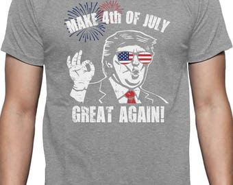 Make 4th of July Great Again Donald Trump Funny Patriot - Men's Short Sleeve T-Shirt