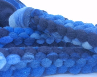 Buddy's Blue Braided Dog Pull Toy - strong chew toy, tough chew dog toy, fleece dog toy