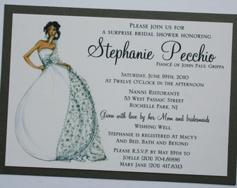 Bridal Shower Invitation with Diva Bride