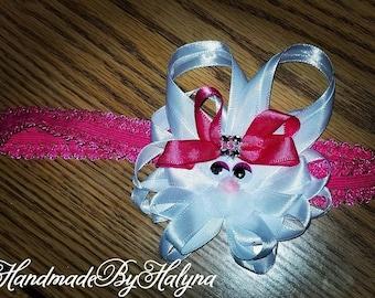 Easter bunny girls ribbon headbands