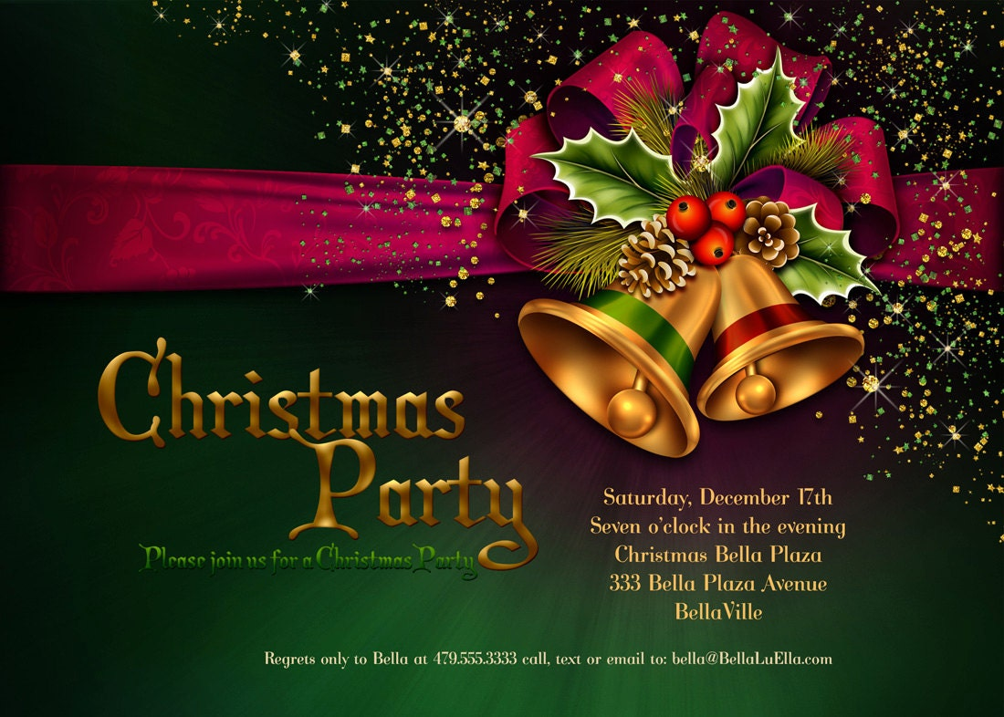 Invitation Cards For Christmas Party Geccetackletarts