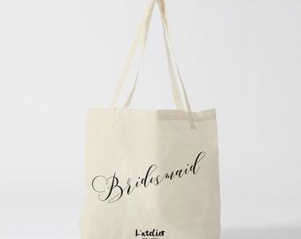 Tote bag bridesmaid, bag canvas, cotton bag, canvas bag, tote bag, purse, bag offer, current bag, shopping bag, quote