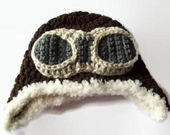 Baby Hats, Baby Boy Hat, Helmet Hat, Pilot Hat, Aviator Hat, Aviation, Crochet Hats, Hat Gifts, Goggles, Baby Pilot, Unique Hats