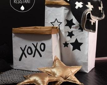 Large Paper Storage Bag, Toy Storage, Kids Room Organization, Kids Decor, Nursery Storage, Storage Bin, Newspaper Basket, Shoe Storage