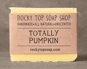 Pumpkin Soap - Dry Skin Soap, All Natural Soap, Homemade Soap, Cold Process Soap, Vegan Soap, Unscented Soap