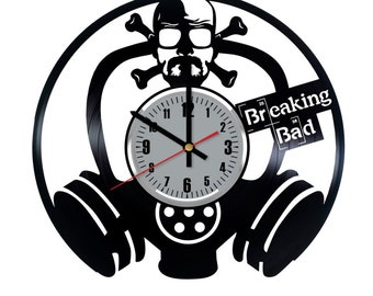 Breaking Bad Vinyl Clock - Walter White Jesse Pinkman Vinyl Record Wall Art Home Decor - Original Gift For Any Occasion - Vintage Handmade