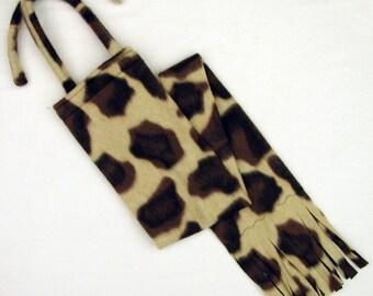 Fleece HORSE TAIL BAG - Giraffe Print - by BobbiGee's