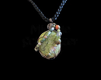 Earthy Age - Agate Stone Wire Wrapped Pendant