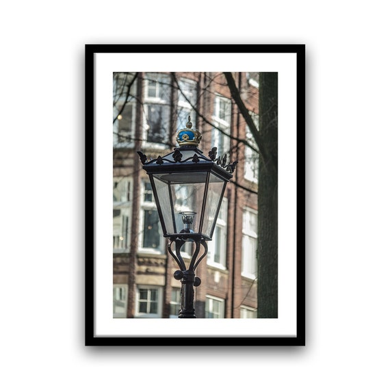 Amsterdam Photograph, Lamppost, Fine Art Photography, Street Light, Urban Photo, home Decor, Wall Art, 5x7, 8x10