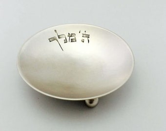 Silver bottom for handmade kiddush cup of goldsmith