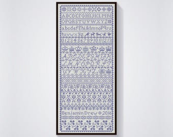 INSTANT DOWNLOAD Border Band Sampler counted cross stitch patterns by Quilify Design at thecottageneedle.com monochromatic