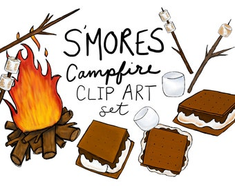 s mores etsy rh etsy com cute s'more clipart s'more clipart free
