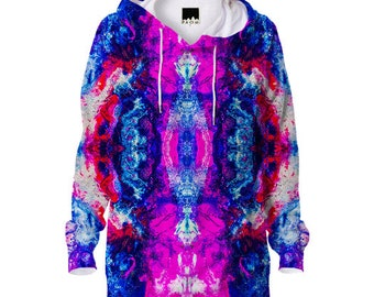 Alien Technology Hoodie 3d Psychedelic design mandala Art UV Black light!