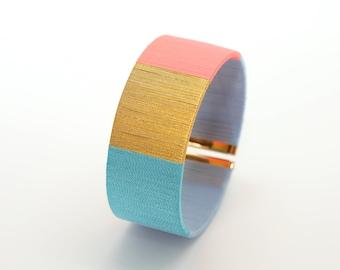 Gift Cuff Bracelet - Bracelet cuff Christmas gift - cuff green - coral cufflinks - cufflinks wedding gift - Lily & Koh