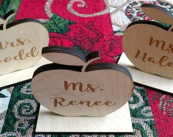 Teacher Gifts Personalized Desk Apple