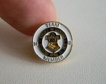 Service to Mankind Team Member Lapel Tack Pin  SERTOMA  1984-1985