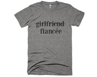 Fiancee Shirt-Engagement Shirt- girlfriend shirt- Graphic Shirt-Typography Shirt-Women Gift