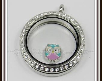 Owl Floating Charm for Glass Locket / Floating Locket