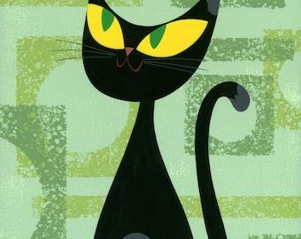 Cat Series: Bird - Print