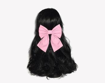 Pink Large Bows, Large Bows For Girls, Pink Hair Bow, Large Bows, Pink Big Bow, Baby Pink Hair Bow, Pink Girls Hair Bows, Girls Big Bows