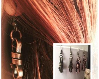 Knot Jewelry Earrings - Knot Earrings - Rope Earrings - Rope Jewelry - Steampunk Jewelry