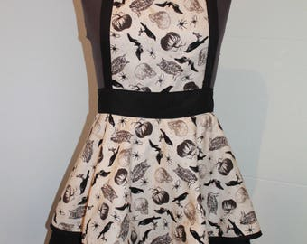 Retro/dark 'Spell' cotton apron