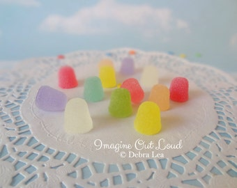 Fake Candy Faux Spice Drops PASTEL Holiday Sweets Rainbow Display Food Prop Decor