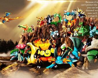 """Pokemon Children Poster 33"""""""