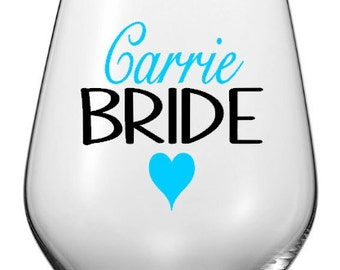 Personalized Wedding Party Wine Glass Decals,Custom Bridal Party Decals, Wedding Favor, Glasses NOT Included