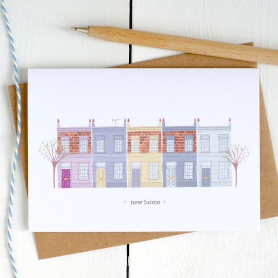 New Home Illustrated Card New Home Card Illustrated New House Interior Design Sketch E A on
