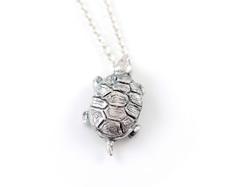 Turtle Pendant in Sterling Silver - Made to Order