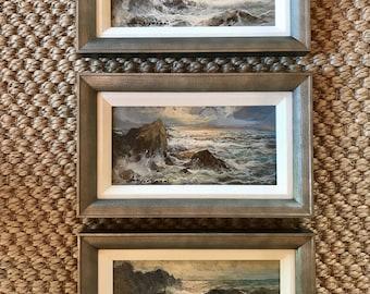 Trio of Miniature Seascapes