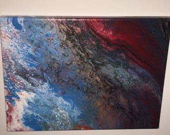Acrylic pour 8x10