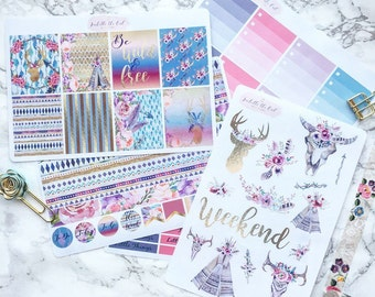 Happy Planner Wild & Free Weekly Kit Planner Stickers