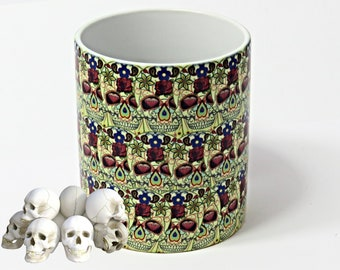 Sugar skulls, Sugar Skulls Mug, Sugar Skull Coffee Mug, Sugar Skull Gift.