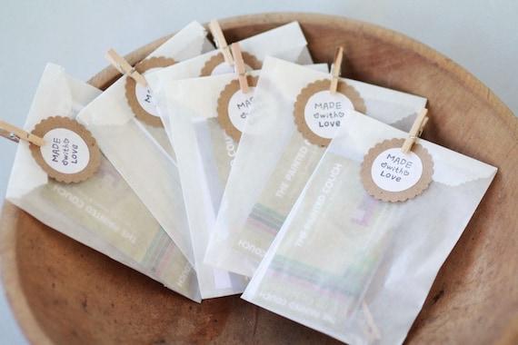 "Glassine Bags w/ side gusset- Set of 50  | Width 3"" x 1 1/2"" x 6 3/4"" | Wedding Favor Bags, Treat Bags"