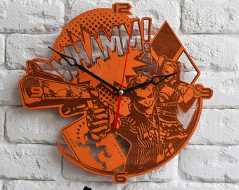 Harley Quinn Joker Wood Wall Clock --May have little difference in color-- black friday sale logo