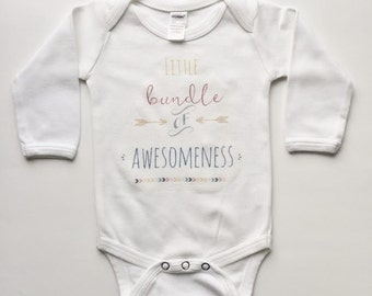 Baby Bodysuit, Kids Shirt, Little Bundle bodysuit, newborn baby bodysuit, home from hospital outfit, maxandmaekids, max and mae