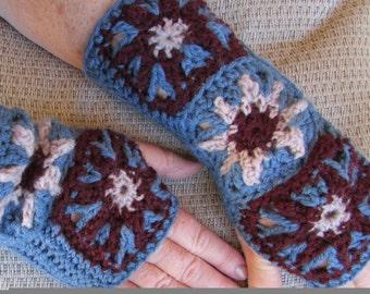 Hand Crocheted Fingerless Mitts
