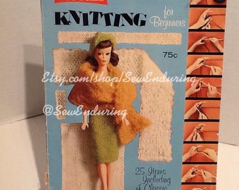 Knitting for Beginners - McCalls 1965 featuring Barbie