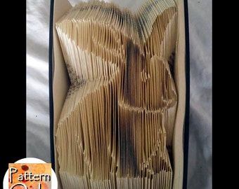Bunny Folded Book Art Pattern