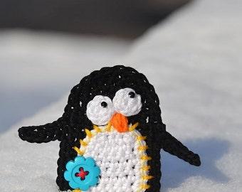 Crochet pattern - penguin applique by VendulkaM, digital pattern, DIY, pdf