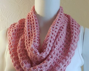 Soft pink cotton cowl